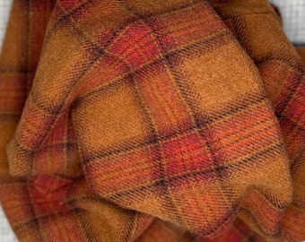 Toil and Trouble Plaid, Felted Wool Fabric for Rug Hooking, Wool Applique and Crafts