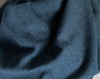 Shepherd's Blue, Felted Wool Fabric For Rug Hooking, Wool Applique and Crafts