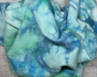 Mystic Mermaid Sparkle, Half Yard of Hand Dyed Wool