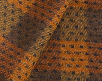 Dark Pumpkin and Brown, Felted Wool Fabric for Rug Hooking, Wool Applique and Crafts