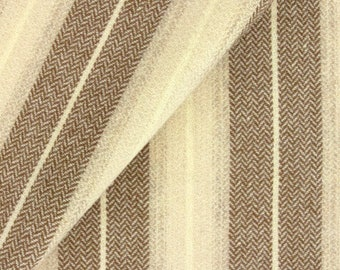 Brown and Cream Stripe, Felted Wool Fabric for Rug Hooking, Wool Applique and Crafts