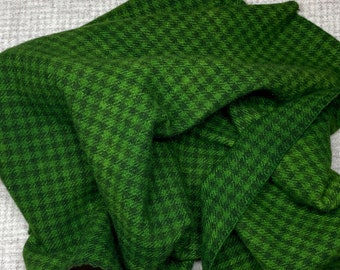 Christmas Green Check, Hand Dyed Fat Quarter