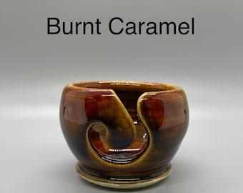 Burnt Caramel, Pottery Thread Bowl