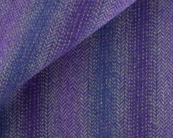 Shades of Purple Ombre, Felted Wool Fabric for Rug Hooking, Wool Applique and Crafts