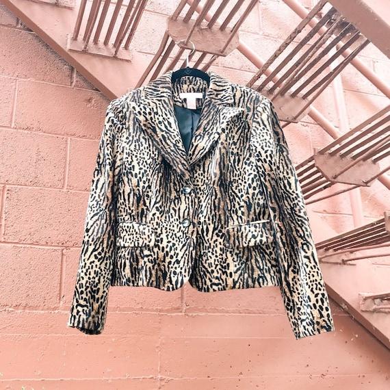 vintage vegan cheetah print coat / faux fur animal