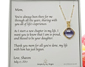 Mother of the Bride Gift, Mother of the Bride Gift from Daughter, Wedding Jewelry, Mother of the Bride Necklace, Wedding Gift