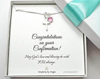 Confirmation Gifts for Girls, Girls Confirmation Gifts, Gift from Godparent, Confirmation Gift for Girl from Parents, Confirmation Necklace