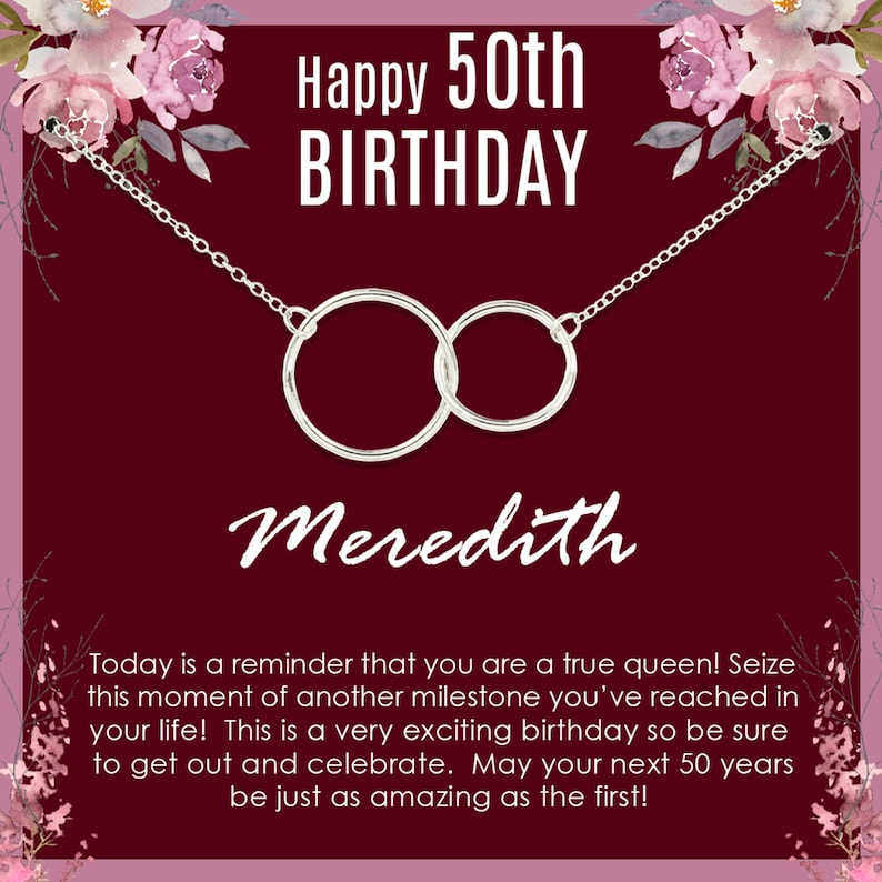 50th Birthday Gift for Woman 50th Birthday Gift Idea 14k Gold Filled Necklace 50th Birthday Gift for her 50th Birthday Gift for Women