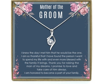 Mother of the Groom Gift from Bride, Mother-In-Law Gift, Gift for Mother of the Groom, Mother of the groom necklace, Sterling Silver