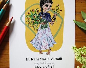Bl. Rani Maria Vattalil 5x7 - Halo Girls