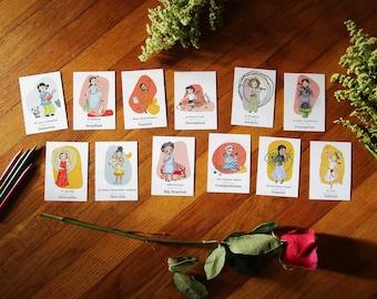 Holy card set - Halo Girls