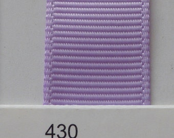 """3/8"""" / 10mm Solid Grosgrain Ribbon LIGHT ORCHID #430 X 2 METERS"""
