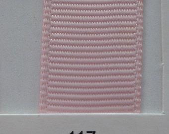 "1""/ 26mm Grosgrain Ribbon in Light Pink #117 x 2 meters"