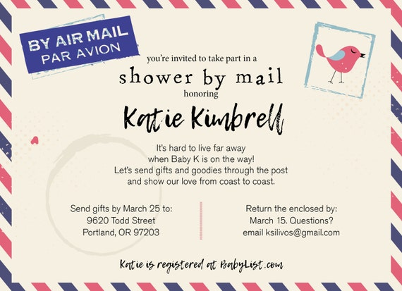 Long Distance Relationship Wedding Invitation: Long Distance Baby Shower / Shower By Mail