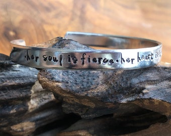 "Snarky Hidden Message ""Fuck Cancer"" Cuff Bracelet"
