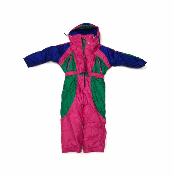vintage Ossi ski snowsuit girls kids 80s 90s winte