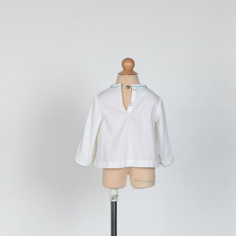 vintage 1970s toddler girls lion blouse