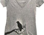 Raven Womens V-neck Tee