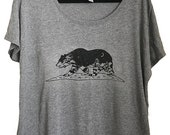 California Grizzly Womens Scoop Neck Tee