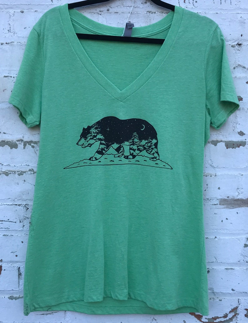 CLEARANCE  California Grizzly Women's V-neck Tee apple image 0