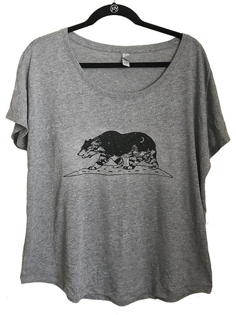 California Grizzly Bear Womens Scoop Neck Tee  Super soft and image 0