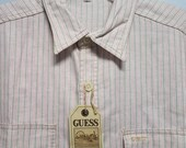 Vintage Lightly denim Oxford Shirt 80 39 s early 90 39 s by GUESS JEANS Never Worn, Still With Tags On