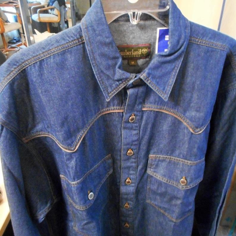 58d3e1c52d Very Awsome VINTAGE 80 S Blue Jean Shirt Jacket by