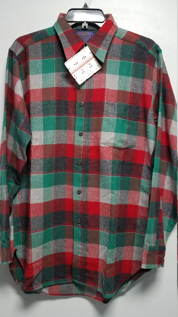Vintage Flannel Shirt  Made 70's  By PENDLETON   N