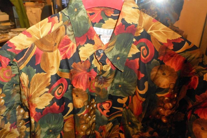 Nice Vintage Shirt 80/'s   by BURMA BIBAS    Size Mdedium    Never Worn Still With Tags
