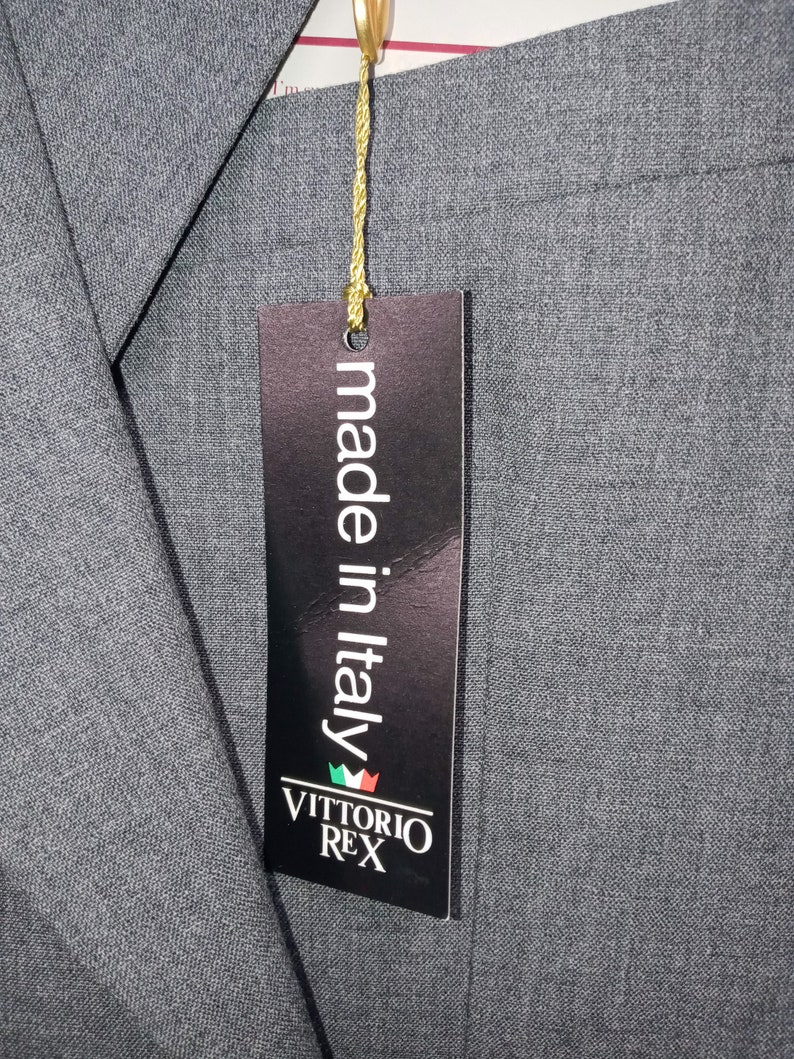 Vintage Suit by VITORIO REX made in Italy tags on never worn