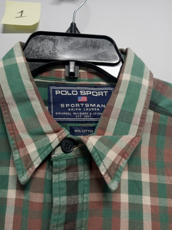 Vintage Mens Classic 80's Long Sleeve flannel Shi… - image 3