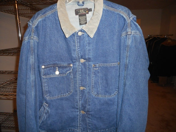 best wholesaler good quality authentic Vimtage Blue Jean Jacket by RRL Double rrl RALPH LAUREN Never Worn, Still  With Tags on