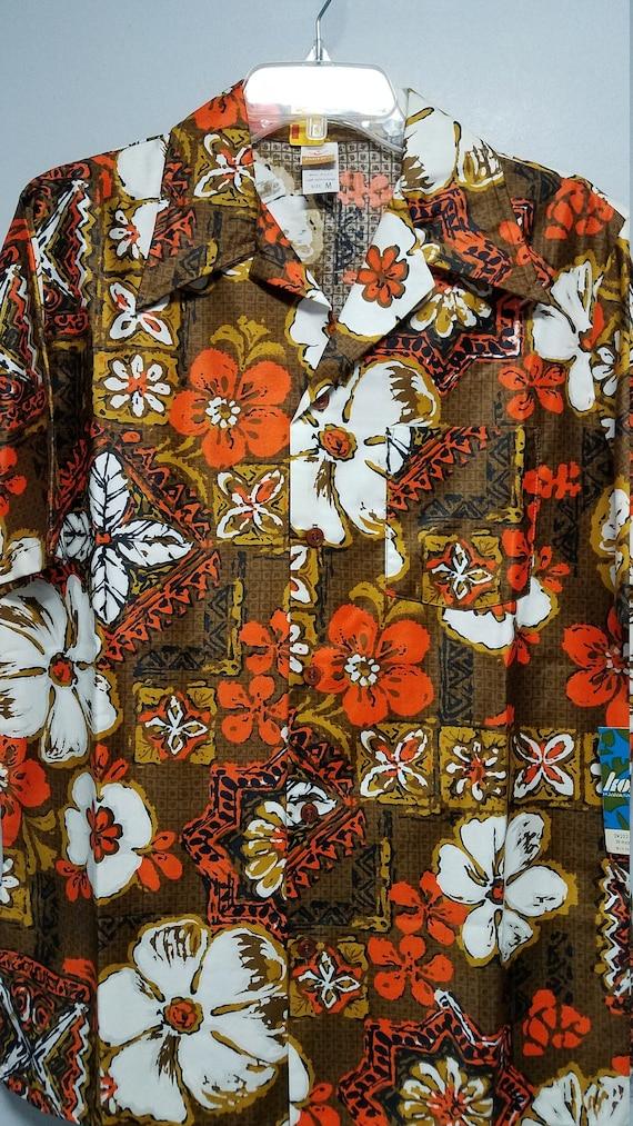 Vintage Shirt  70'S By KONA * KAI  JANTZEN   Hawai