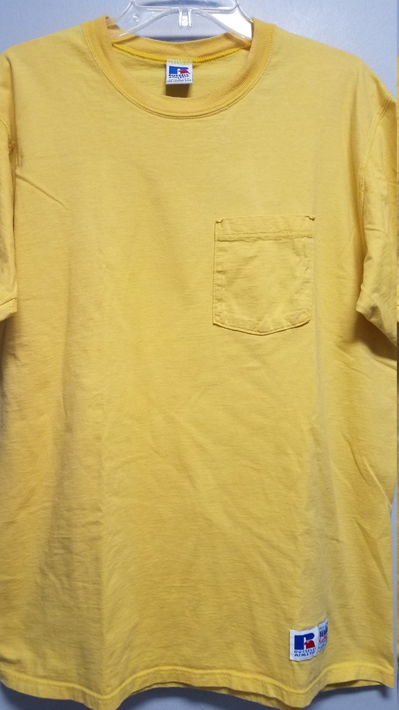 Vintage Pocket T-SHIRT 80'S By RUSSELL ATHLETIC