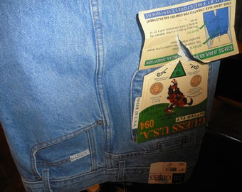 Vintage Jeans  80's      Size 38x30     by GUESS    Never Worn,   Still With All Tags On Them