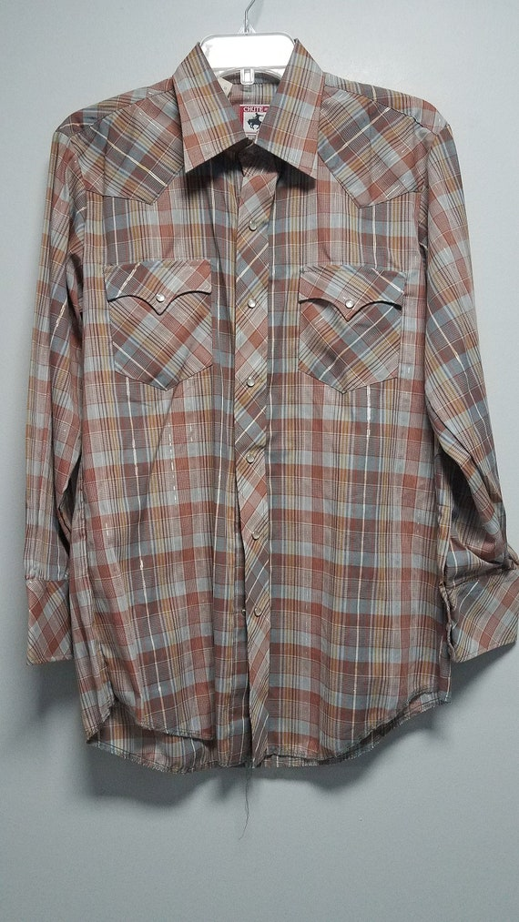 VINTAGE Awesome   Western Shirt 70's or early 80'S