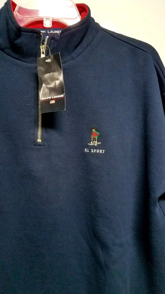Classic 80's  Sweatshirt with Logo   by   R L  PO… - image 6