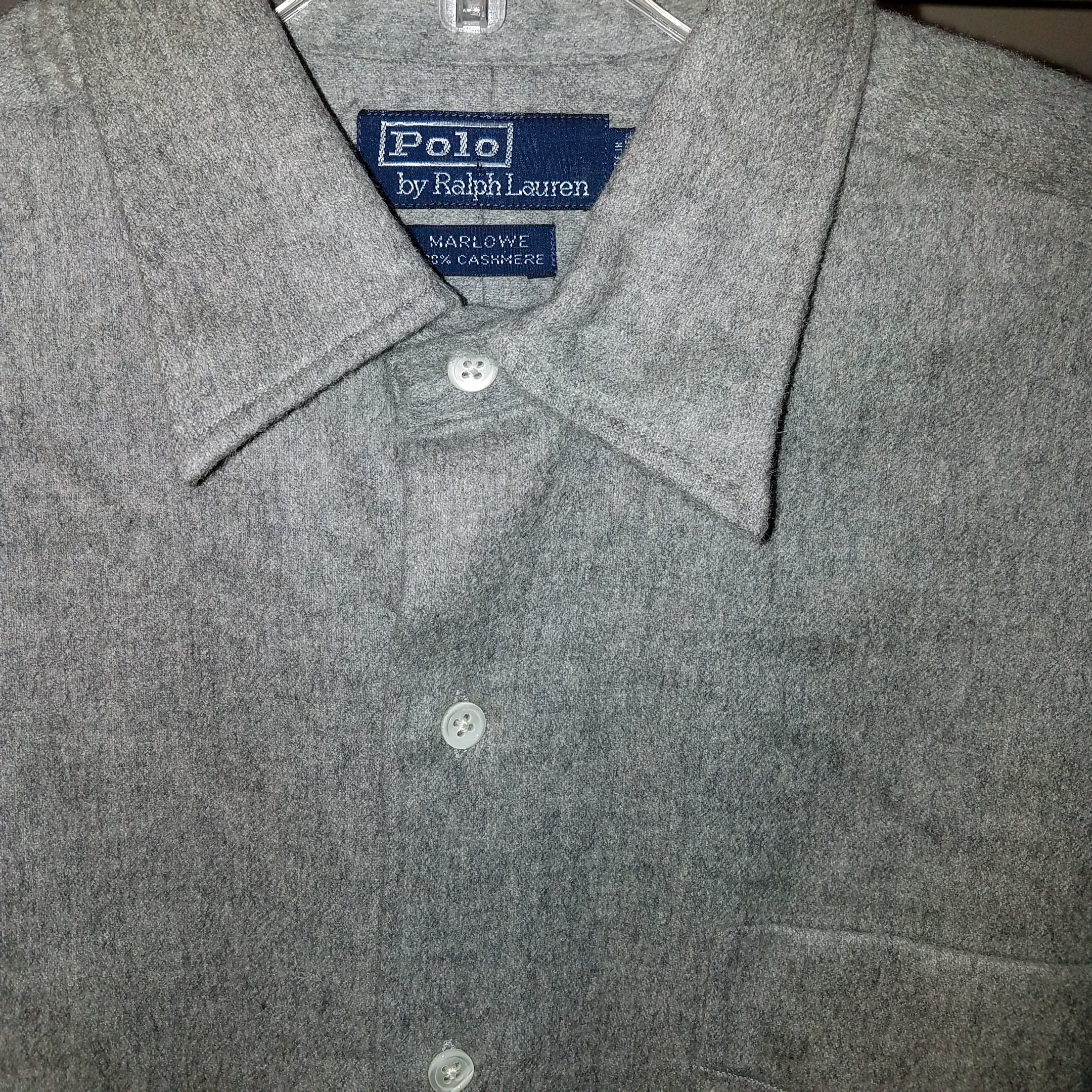 Shirt Marlowe Worn By Never With Button Still 100Cashmere On Vintage Polo Mens Down Tags N0vm8nwO