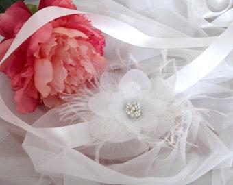Simple Flower Bridal Sash