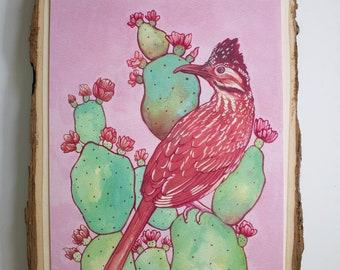 Pink Roadrunner art print