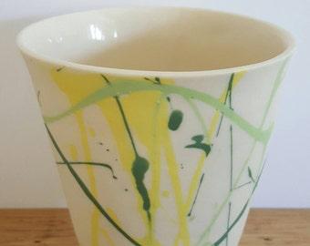 Porcelain vase, handmade vase, pottery vase, ceramic gift, birthday gift, anniversary gift, gift for her, wife, mother,