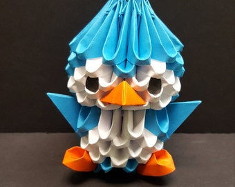 More Colors 3D Origami Penguin