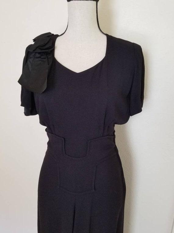 1940s Little Black Dress || Medium - image 2