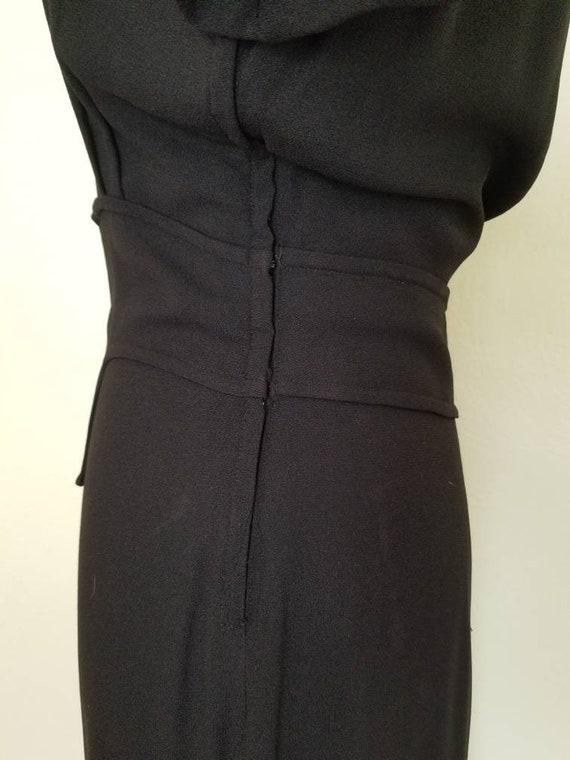 1940s Little Black Dress || Medium - image 3