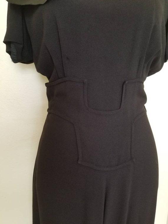 1940s Little Black Dress || Medium - image 5