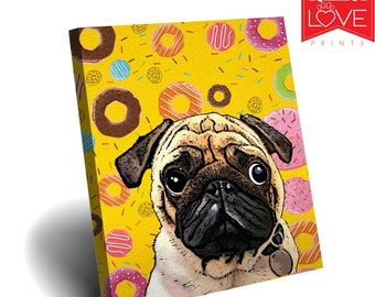 Christmas Gift Ideas Custom Dog Canvas Birthday Pet Lover Art Portrait Cat