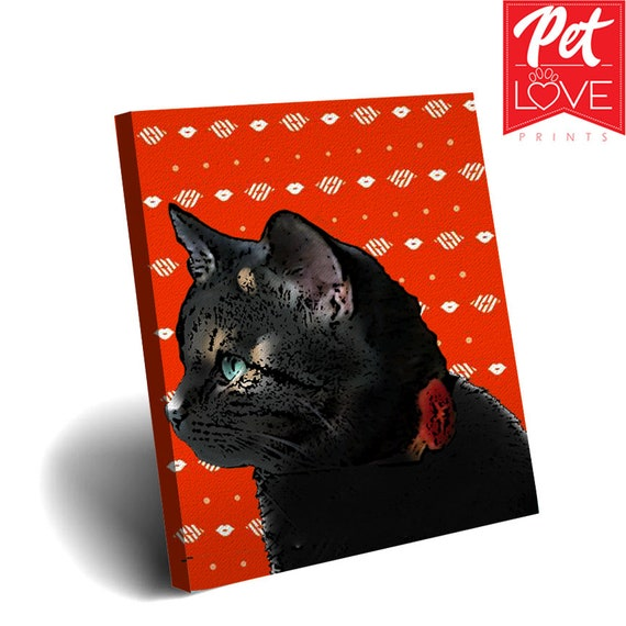 Christmas Gift Ideas Custom Dog Canvas Birthday Pet