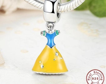 Disney Snow - Dress - Argent Sterling 925 . Charms