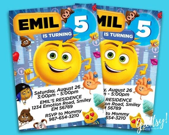 Emoji Invitation Birthday Party Invites
