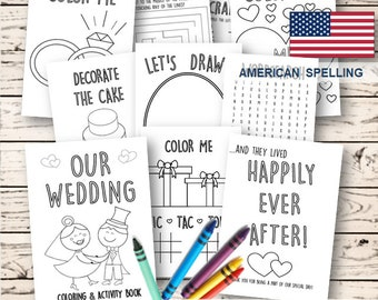 Kids Wedding Coloring Activity Book INSTANT DOWNLOAD
